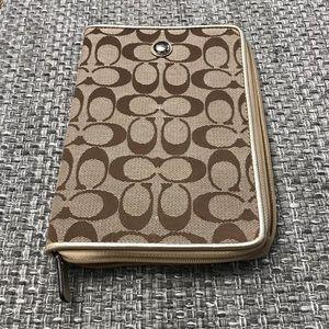 Coach  planner/phone/kindle wallet holder
